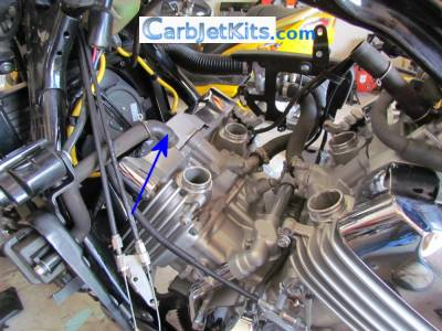 carburetor assembly removal